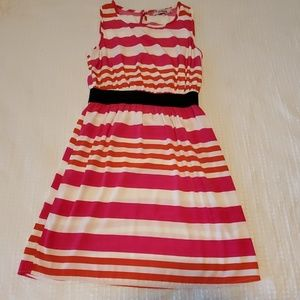 Small, orange and pink summer dress